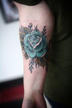 rose tattoo forearm - Google Search
