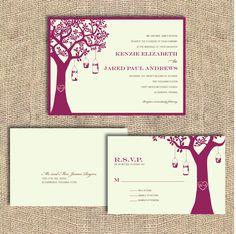 Lantern Tree Wedding Invitation  Printable by iheartpaperandthread