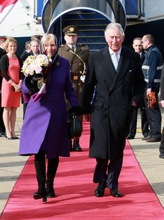 Prince Charles, Prince of Wales and Camilla, Duchess of Cornwall arrive at Zagreb International Airport for the first day of a two day visit to Croatia on March 14, 2016 in Zagreb, Croatia.