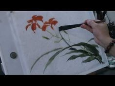 How to Paint Daylily in Traditional Chinese Painting Using Hake Brush