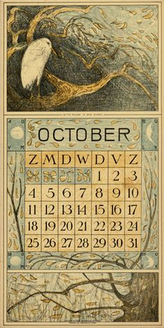 Theodoor van Hoytema, calendar 1914 October