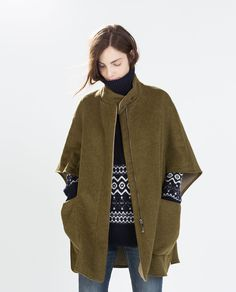Image 1 of WOOL CAPE from Zara