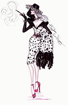 Hayden Williams Fashion Illustrations: 'Disney Villainess' collection by Hayden Williams - Cruella de Vil