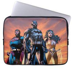 Superman, Batman, & Wonder Woman Trinity Laptop Sleeve