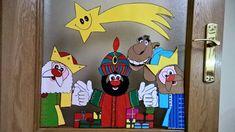dc5223035b9 Los Reyes Magos en Cartulina para decorar puertas