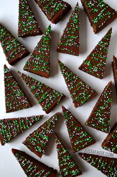 Christmas Brownies #recipe by @justataste on @bhg Delish Dish