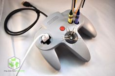 Give you Nintendo 64 controller a new life as a handy desk mate.