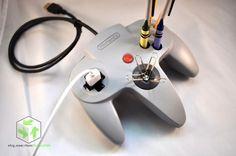 Give you Nintendo 64 controller a new life as a handy desk mate.