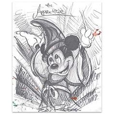Disney Mickey Mouse ''The Apprentice''  Giclée by Eric Robison | Disney StoreMickey Mouse ''The Apprentice''  Gicl�e by Eric Robison - Mickey Mouse as ''The Sorcerer's Apprentice'' summons forces beyond his control in an expressive sketch by Eric Robison. This fine art print inspired by Walt Disney's <i>Fantasia</i> is available on paper or canvas.