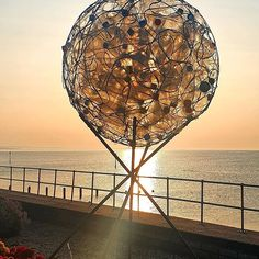 """Debbie Lannon on Instagram: """"More of the fabulous sculptures at Teignmouth Seafront Recycled Art Sculpture Trail @taag_teignmouth #loveyourplanet #loveyourplanet🌎…"""" Sculpture Art, Sculptures, Recycled Art, Plastic Bottles, Planets, Trail, Recycling, Ceiling Lights, Pendant"""