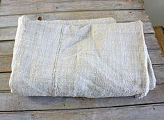 """antique rustic hemp linen sheet - 61 x 36"""""""