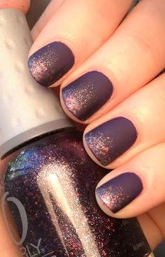 Matte nails with just a hint of sparkle! This would also be pretty in blue or pink I bet! :)