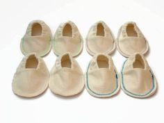 Handmade hemp infant booties soft sole crib shoes organic