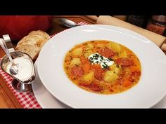 (871) Magyaros krumplileves/ Szoky konyhája / - YouTube Thai Red Curry, Breakfast, Ethnic Recipes, Youtube, Food, Activities, Breakfast Cafe, Essen, Youtubers