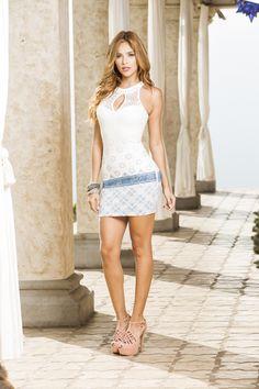 White Dress, Dresses, Fashion, White Gowns, Woman Clothing, Feminine, Women, White Dress Outfit, Moda