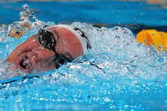 Camille Muffat of France competes during the Swimming Women's 200m Freestyle preliminaries heat five on day eleven of the 15th FINA World Championships at Palau Sant Jordi on July 30, 2013 in Barcelona, Spain.