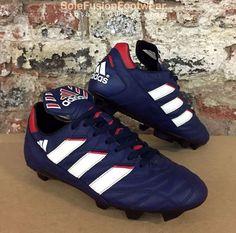 289b063d2e adidas Mens Quantro Football Boots Blue Red sz 8 Vintage Soccer Cleats US  9.5 42 · ChuteirasChuteira ...