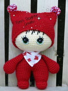 Big Head Baby Doll crafted by Flora's Daughter Creates/crochet/Amigurumi