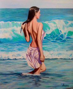 Summer Painting, Gifts For An Artist, Black Girl Aesthetic, Zen Art, Cool Art, Nice Art, Erotic Art, Paintings For Sale, Beautiful Paintings