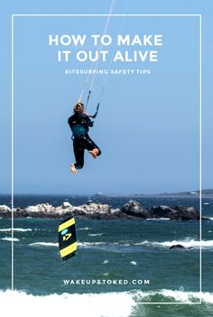 Safety tips for kitesurfing for all levels of kitesurfers. #kitesurfing