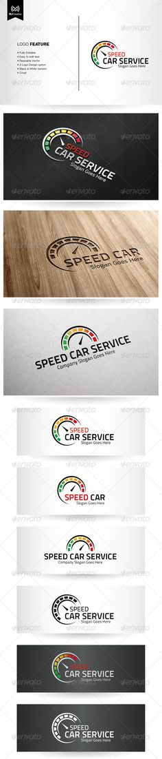 Speed Car Service - Logo Design Template Vector #logotype Download it here…