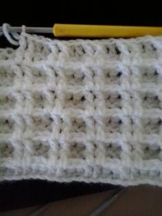 Waffle Stitch - nice thick crochet!