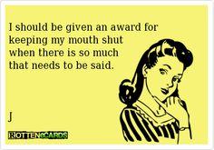 I really should!!!