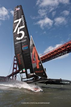 The Golden Gate Bridge will be a spectacular backdrop to all of the 34th America's Cup racing that takes place on the Bay