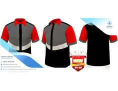 Best of Uniform Corporate Shirts Muslimah Pakaian Pejabat Corporate Shirts, Corporate Uniforms, The Office Shirts, Work Shirts, Made Design, Red And White Shirt, Work Uniforms, Pin On, Uniform Design