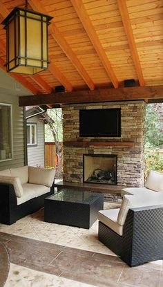 Landscape Outdoor Fireplace Design, Pictures, Remodel, Decor and Ideas - page 3