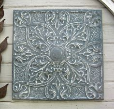 Ceiling Tin Tile. VINTAGE FRAMED Architectural by DriveInService