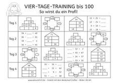 Vier-Tage-Mathe-Training: Zahlenraum bis 100