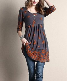 A charming empire waistline animates this dress that's crafted from stretch-blend fabric for ultrasoft comfort and outfitted with slim structured sleeves for a figure-flattering fit. Shipping note: This item is made for zulily. Allow extra time for your special find to ship.