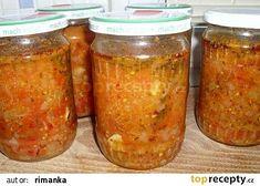 Zavařená rajčatovo bylinková omáčka recept - TopRecepty.cz 20 Min, Preserves, Pesto, Pickles, Cucumber, Salsa, Mason Jars, Veggies, Canning