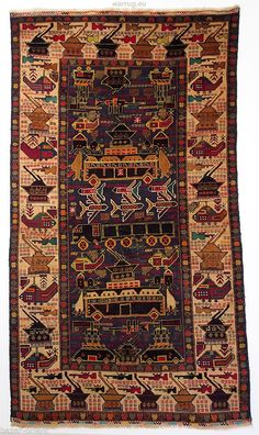 215x120 Cm Old Original Afghan War Rug Kriegteppich Afghanistan Orientteppich 15 Ebay