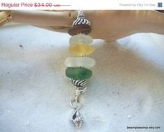 ON SALE Seaglass Necklace Rare Yellow Beachglass Necklace FREE Shipping. $30.60, via Etsy.