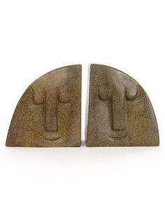 Stone Bookends   Shona Stone Sculpture. $50