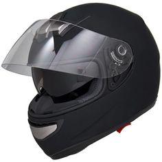 Flat-Matte-Black-Air-Pump-Full-Face-Dual-Visor-DOT-Motorcycle-Helmet-S-M-L-XL