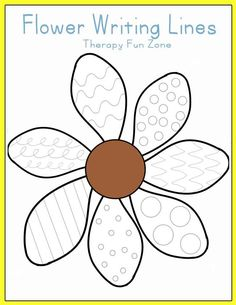 Therapy Fun Zone: Flower Writing Lines-practice writing and cutting with flower petals! Pinned by SOS Inc. Resources. Follow all our boards at pinterest.com/sostherapy/ for therapy resources.