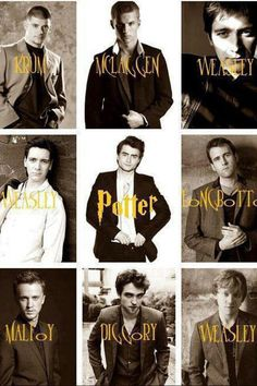 boys, cedric diggory, daniel radcliffe, draco malfoy, fred weasley, george weasley, harry potter, james phelps, love, matthew lewis, neville longbottom, oliver phelps, robert pattinson, ron weasley, rupert grint, tom felton, victor krum, Cormac McLaggen