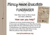 Love Mercy KITS for Families/Groups (Makes 25 Bracelets)