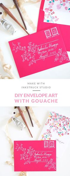 DIY envelope art wit