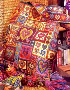 Part 01 - Hearts (total 5 parts)Gallery.ru / Фото #5 - Сумка Patchwork hearts - begi