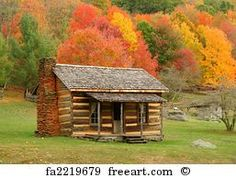 Cabins And Cottages: Free art print of Cabin in Autumn. Old cabin in Vi. Old Cabins, Log Cabin Homes, Cabins And Cottages, Rustic Cabins, Rustic Homes, Western Homes, Cabins In Virginia, Westerns, Off Grid Cabin