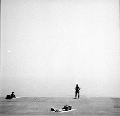 Henry Callahan: Untitled (Chicago). Big empty sky, isolated subjects.