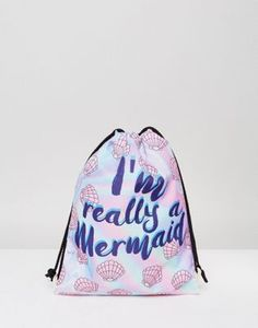 23245ab0f Mochila con cordón ajustable I'm Really A Mermaid ...