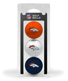 Give the gift of fandom with this expertly printed golf ball set that has the team's logo and colors! Denver Broncos Football, Golf Ball