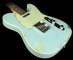 Fender Custom Shop Masterbuilt '63 Telecaster Custom Heavy Relic Electric Guitar Sonic Blue