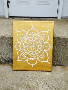 Gold Mandala Canvas. by ReflectiveFlair on Etsy