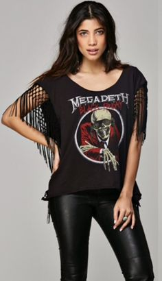Megadeth Black Friday Fringe Tee by Trunk